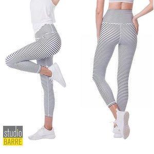Black and white DYI striped leggings